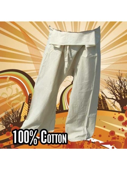 กางเกงเลสั้น *สีพื้น สีขาว