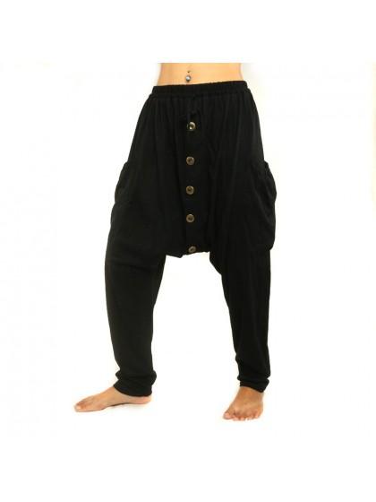 กางเกงยาวผ้ายึด * สีดำ*สไตล์ตามแบบ