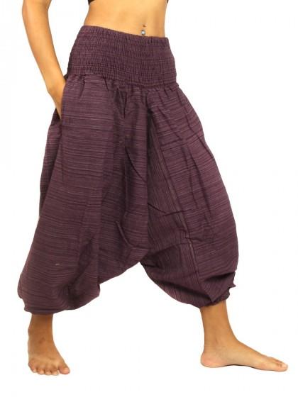 กางเกงอลาดิน สีพื้น* สีมังคุด
