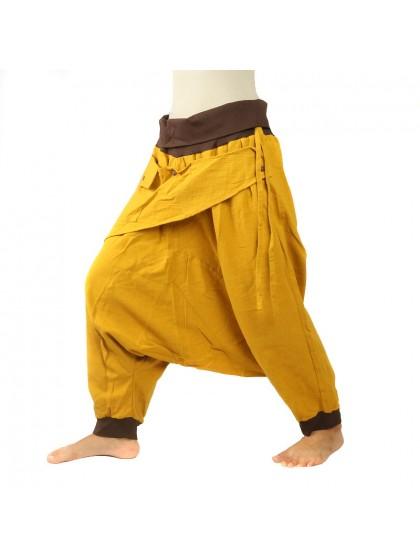 กางเกงอลาดิน ลายช้างมีกระเป๋าข้าง * สีเทาเข้ม  สีดำ