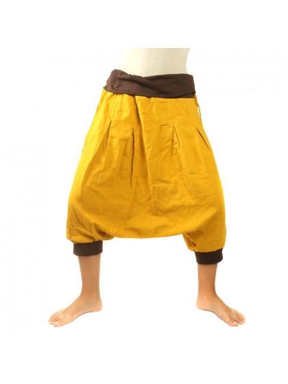 กางเกงอลาดินสั้น สีพื้น* สีเหลืองไพล