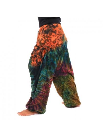 กางเกงอลาดิน ผ้ามัดย้อม*สีตามแบบ