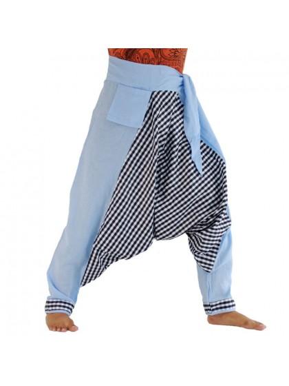 กางเกงอลาดิน ผูกเอว*สีฟ้า