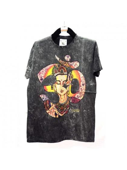 เสื้อยึดผ้าฟอกหิน*สีดำ Size M