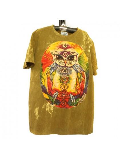 เสื้อยึดผ้าฟอกหิน*สีเหลืองไพล Size M
