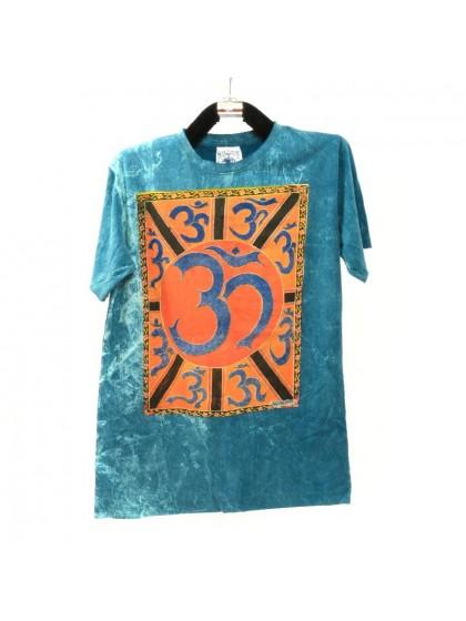 เสื้อยืดผ้าฟอกหิน*สีเขียวอมฟ้า Size L