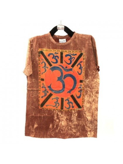 เสื้อยืดผ้าฟอกหิน*สีน้ำตาล Size L