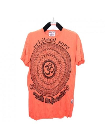 เสื้อยืด*สีส้ม ลายตามแบบ Size L