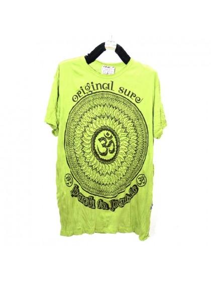 เสื้อยืด*สีเขียว ลายตามแบบ Size L
