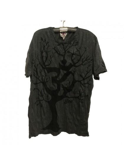 เสื้อยืด*สีดำ ลายต้นไม้ Size L