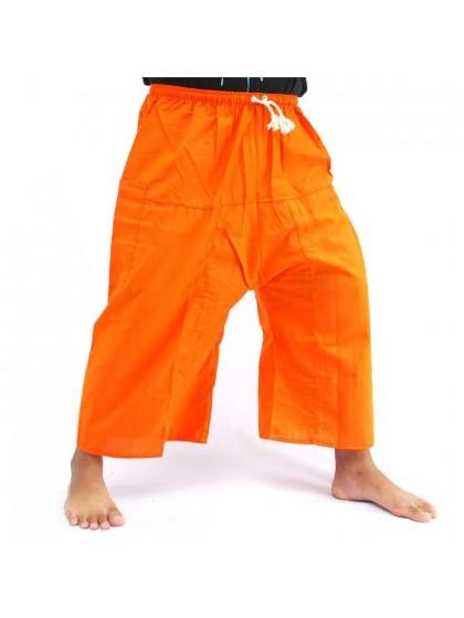 กางเกงเล เอวยางมีเชือกผูก*สีส้ม