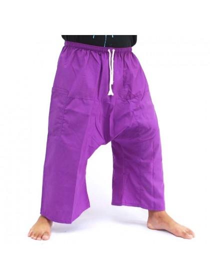 กางเกงเล เอวยางมีเชือกผูก*สีม่วง