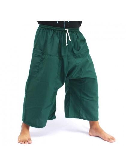 กางเกงเล เอวยางมีเชือกผูก*สีเขียวหัวเป็ด