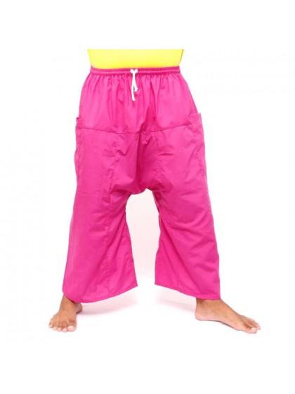กางเกงเล เอวยางมีเชือกผูก*สีชมพูอ่อน