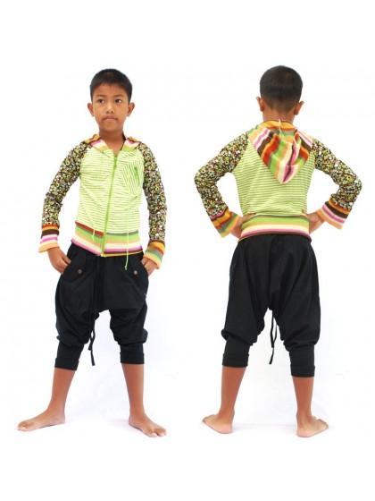 เสื้อแจ็คเก็ตเด็ก* สีเขียว ลายตามแบบ