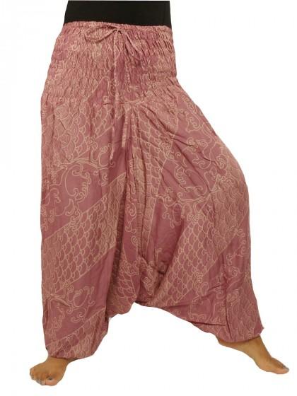 กางเกงอลาดิน*ม้งสม็อคลาย*สีชมพู