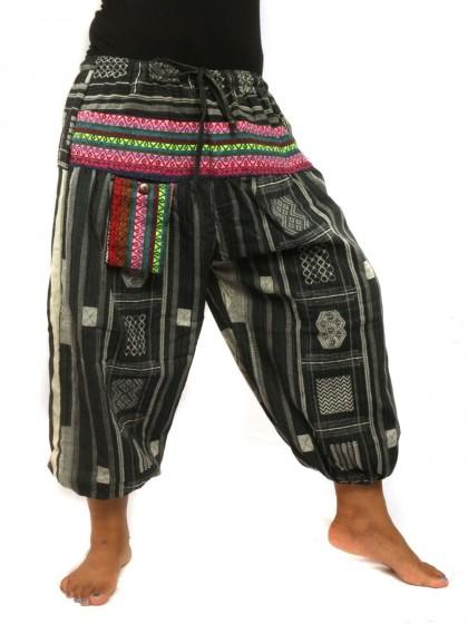กางเกงขาห้าส่วน-ผ้าฝ่าย-สีดำ