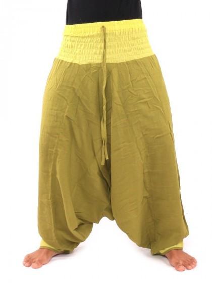 กางเกงอลาดิน * สีเหลืองมะนาว  สีเหลืองอมเขียว