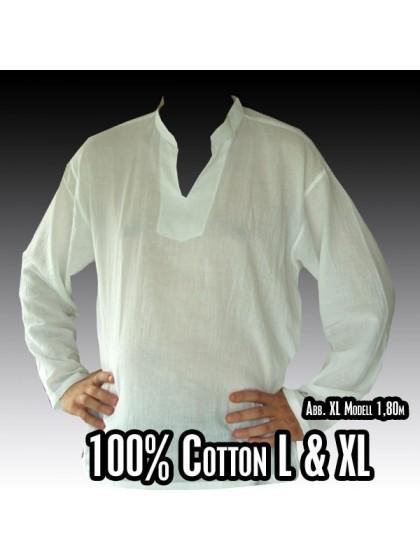เสื้อสาลูคอจีน แขนยาว Size L