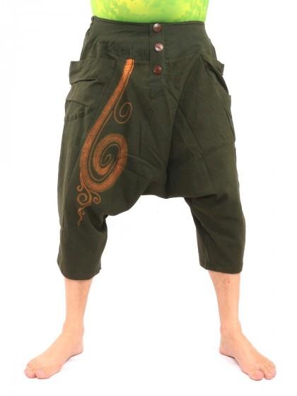 กางเกงอลาดิน สั้น * สีเขียวขี้ม้า
