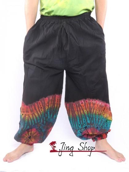กางเกงฮาเร็ม กางเกงมัดย้อม กางเกงขาตรง กัดลายช่วงขา