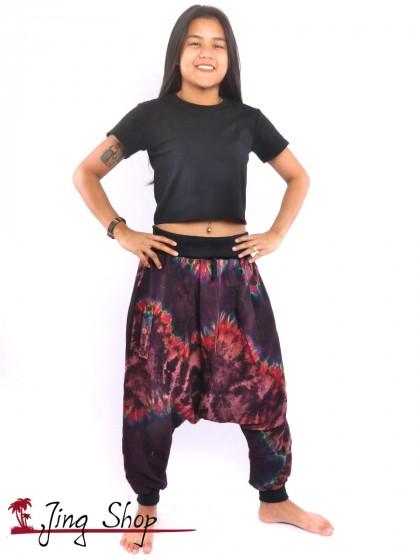 กางเกงฮาเร็ม กางเกงม้ง กางเกงแขก กางเกงมัดย้อม โทนม่วง