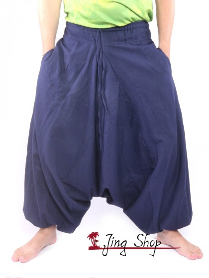 กางเกงฮาเร็ม กางเกงเป้ายาน กางเกงอลาดิน สีกรม