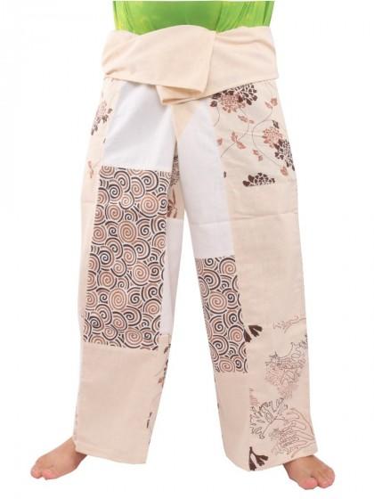 กางเกงเล * สีโอวัลติน  สีขาว