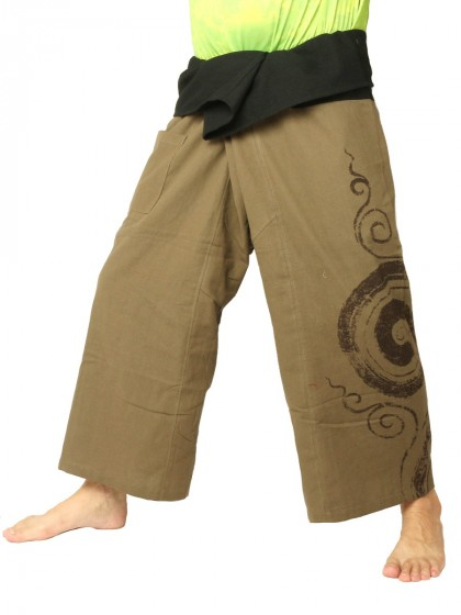 กางเกงเล * ต่อหลายสีสองสี สีกากี