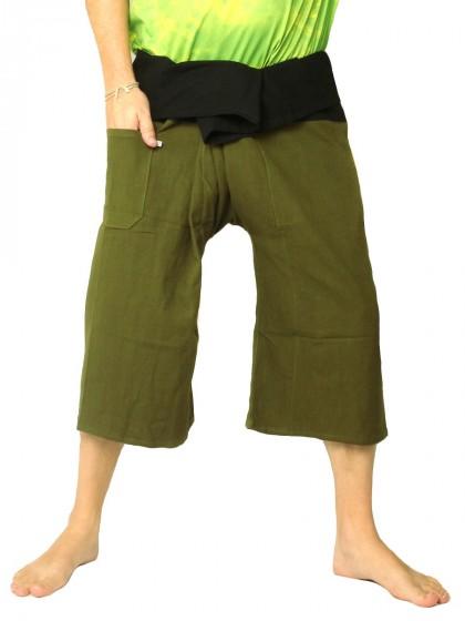 กางเกงเลสั้น * ต่อสองสี สีเทาขอบสีดำ