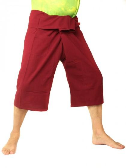 กางเกงเล *สีพื้น สีแดงเลือดหมู