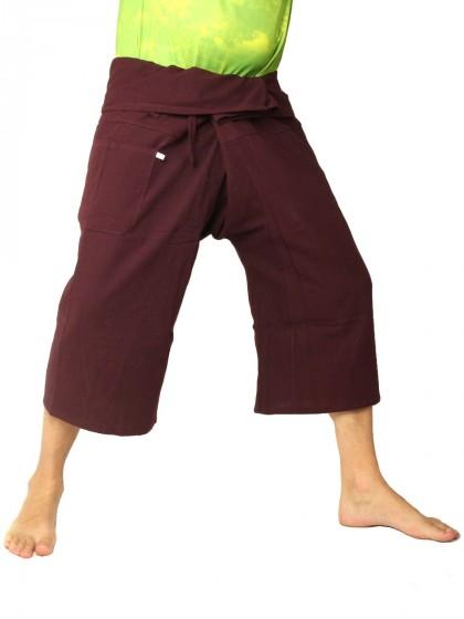 กางเกงเล *สีพื้น สีมังคุด