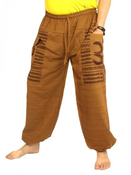 กางเกงอลาดิน พิมพ์โอม * สีกากี